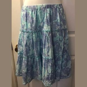 LILLY PULITZER Chow Wagon Shopper Skirt Tiered